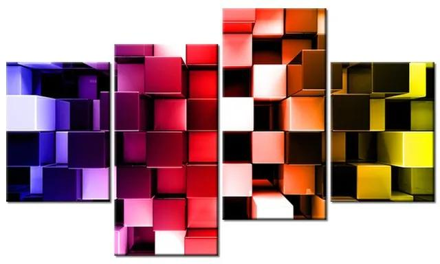 Tlačený obraz Farebné 3D kocky 120x70cm 3256A_4AA