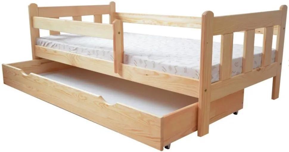 MAXMAX Detská posteľ z masívu 160x80 cm bez šuplíku - DP 022 160x80 NIE