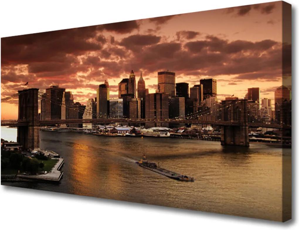Obraz Canvas Město brooklynský most