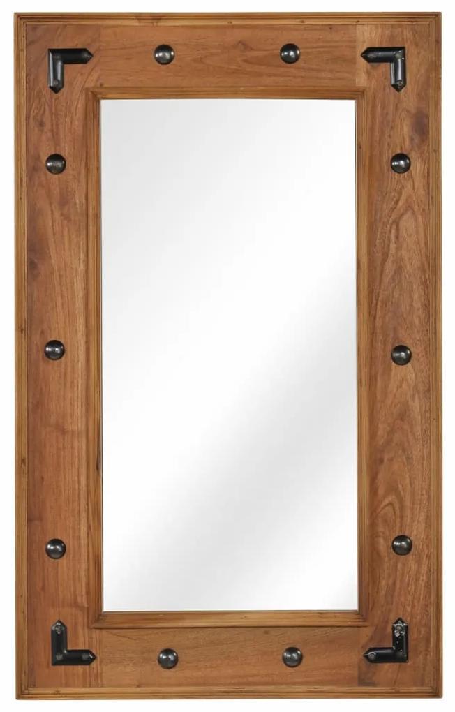 vidaXL Zrkadlo z masívneho akáciového dreva 50x80 cm