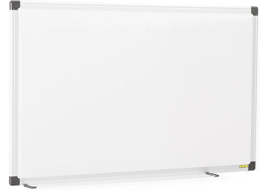 Biela magnetická tabuľa s hliníkovým rámom, 600x450 mm