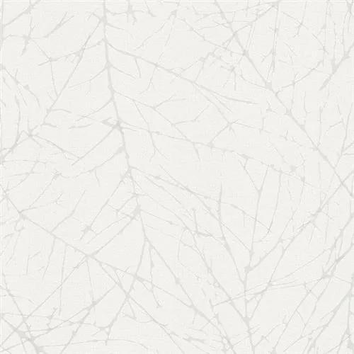 Vliesové tapety na stenu Belinda 6716-30, vetvičky biele na bielej štruktúre, rozmer 10,05 m x 0,53 m, Novamur 81880
