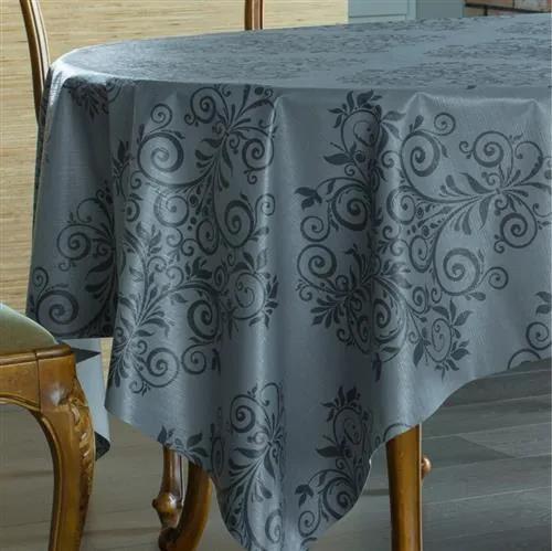 Obrus PVC 573441, návin 20 m x 140 cm, ornamenty sivo-čierne, IMPOL TRADE