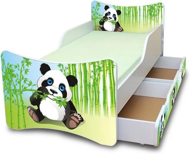 MAXMAX Detská posteľ so zásuvkou 180x90 cm - PANDA 180x90 pre všetkých ÁNO