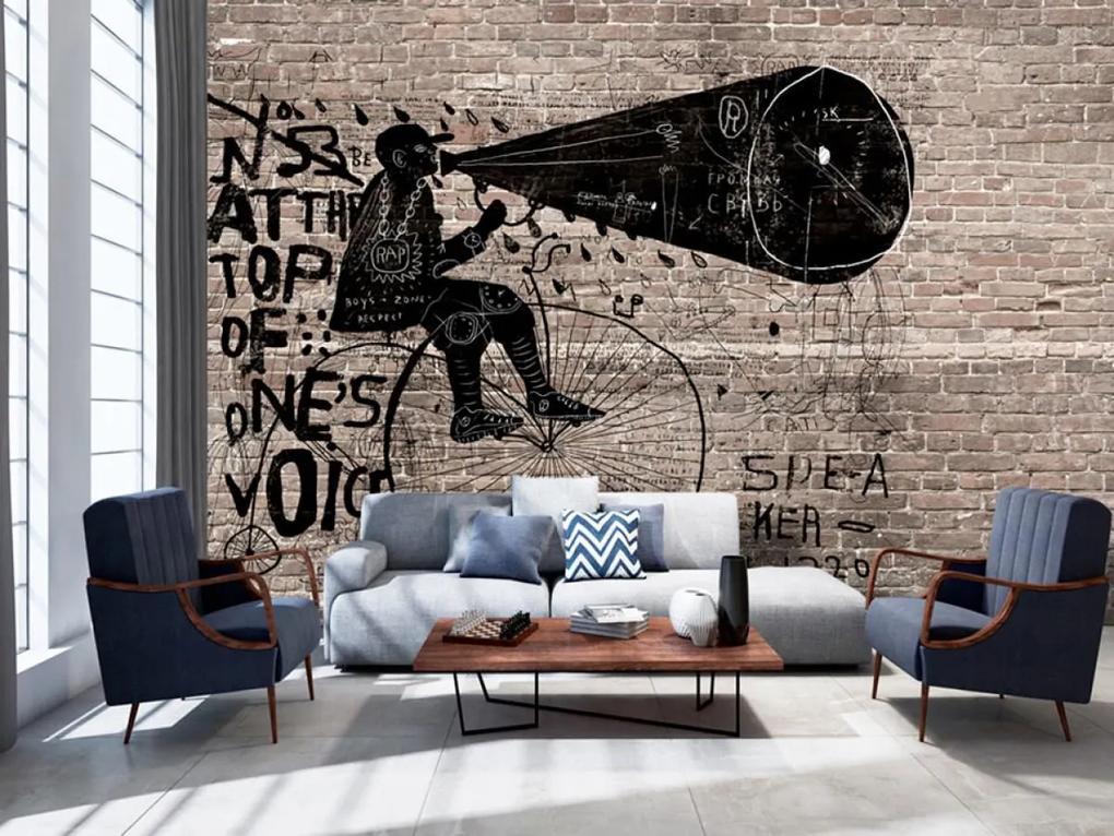 Murando DeLuxe Vzkaz na zdi 150x105 cm