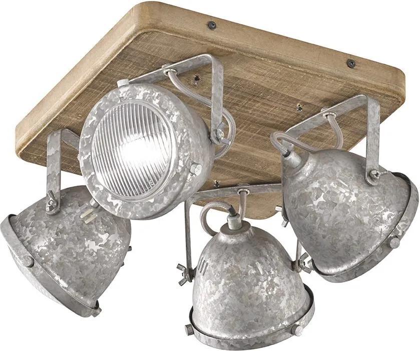OLD 4   Stropná lampa Farba: Zinok