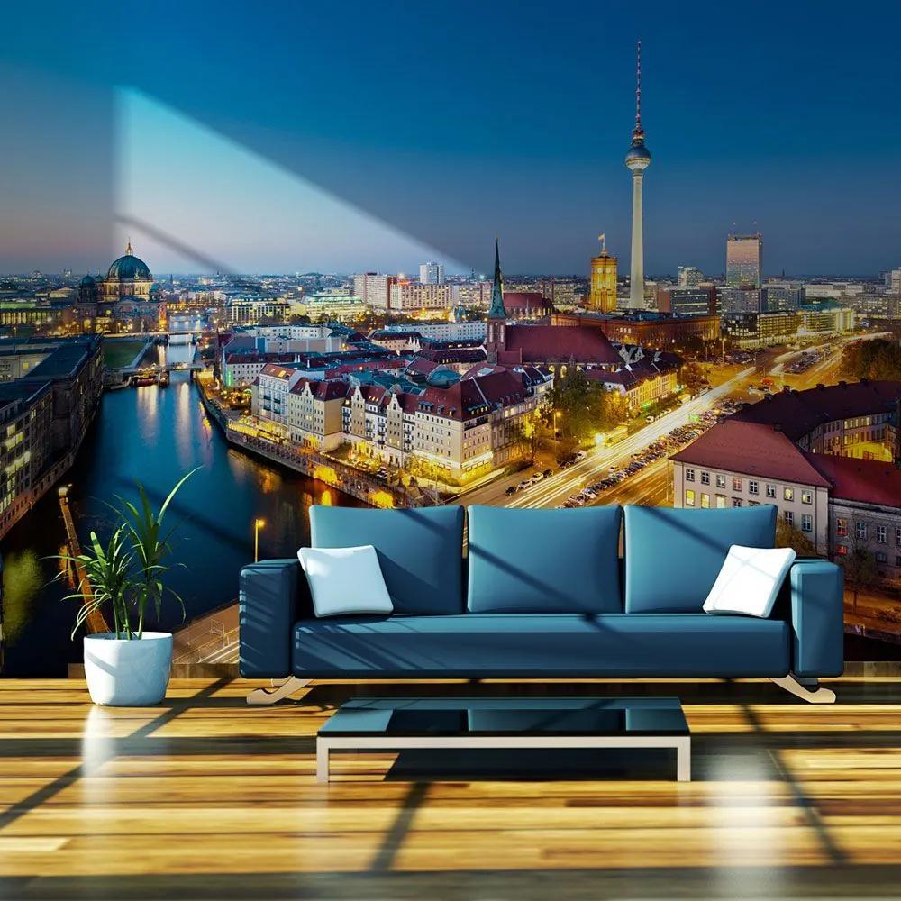 Fototapeta - Berlin view from Fischerinsel (night) 200x154