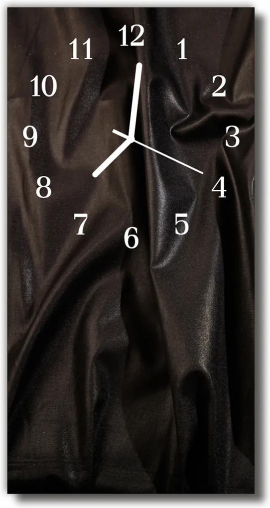 Skleněné hodiny vertikální Černý samet