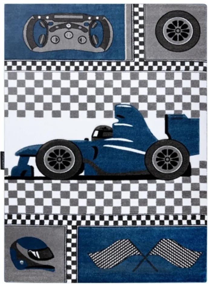 Detský kusový koberec Formule modrý, Velikosti 200x290cm