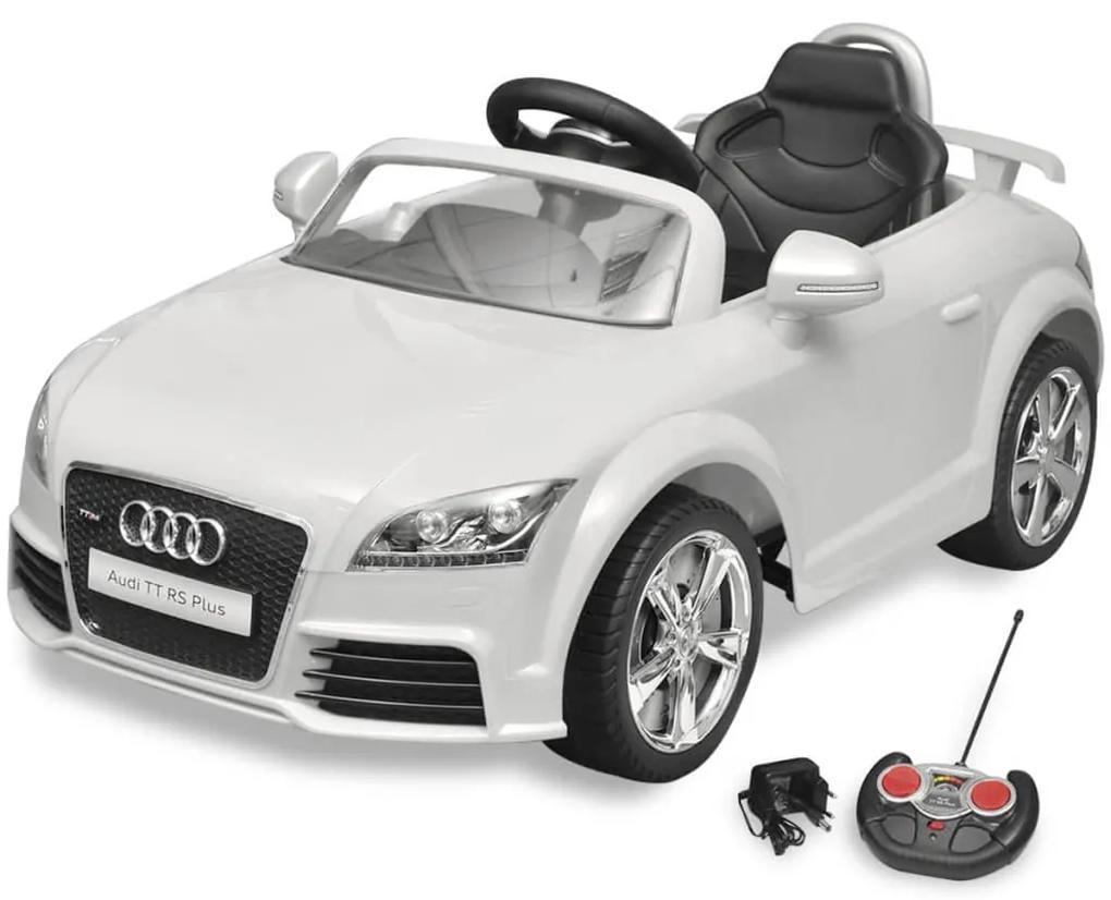 vidaXL Auto pre deti Audi TT RS s diaľkovým ovládaním biele