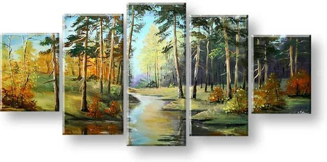 Maľovaný obraz na stenu KRAJINA FB443E5