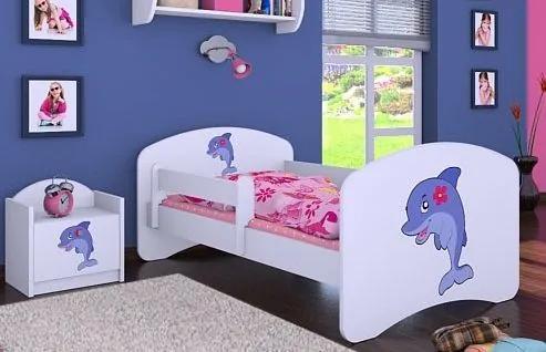 MAXMAX Detská posteľ bez šuplíku 160x80cm DELFÍN 160x80 pre dievča NIE