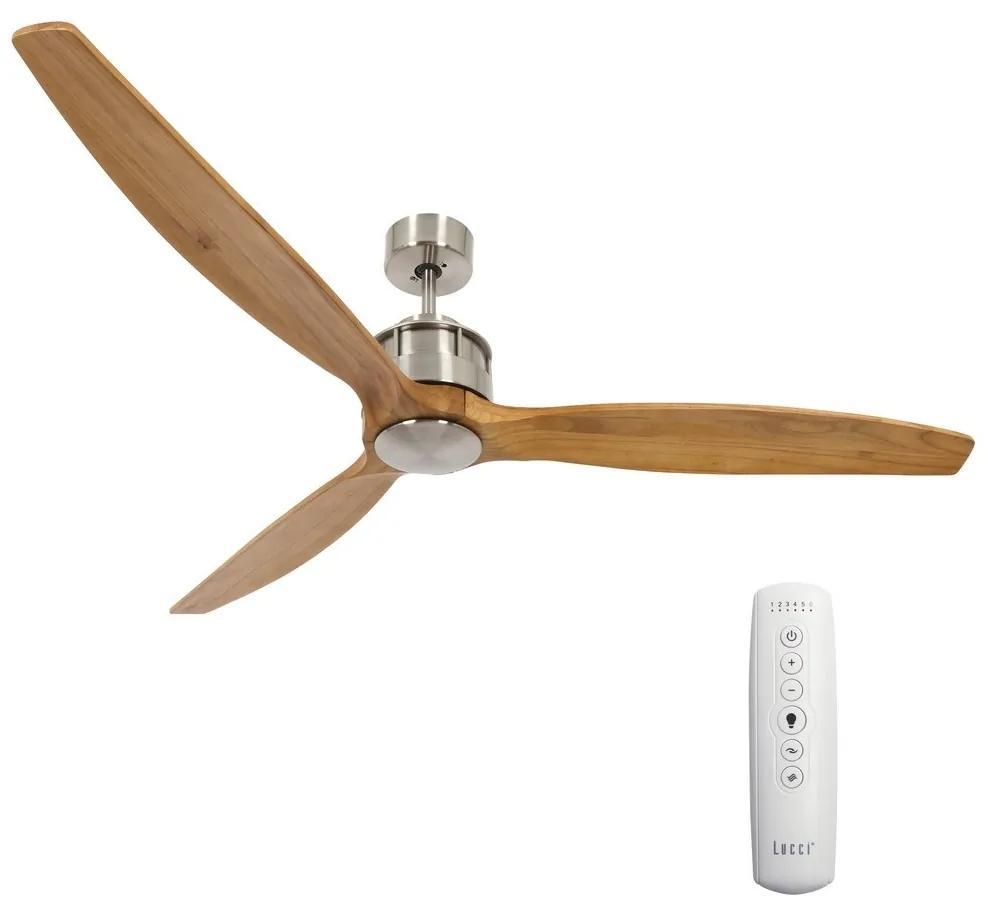 Lucci air Lucci air 210506 - Stropný ventilátor AIRFUSION AKMANI chróm/hnedá FAN00125