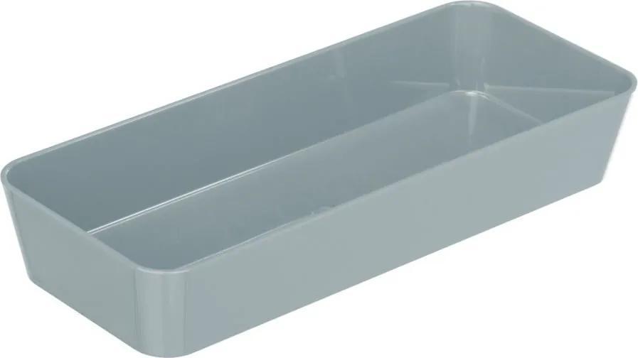 Sivý úložný box Wenko Candy, 24 x 10 cm