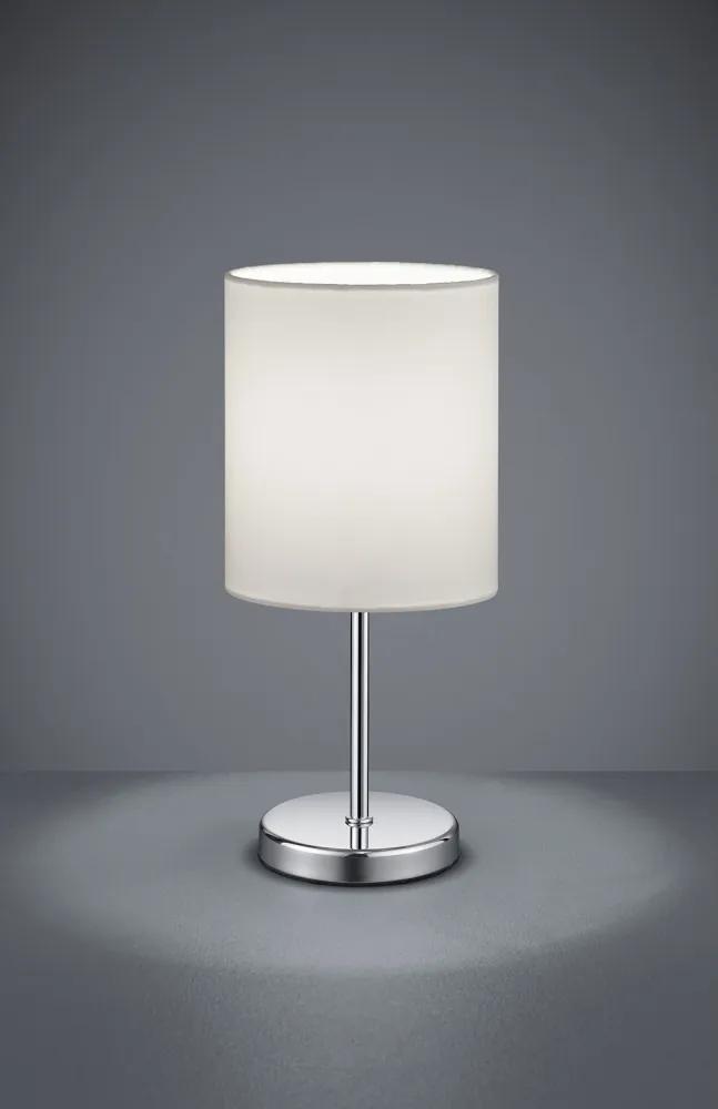 Trio R50491001 Nočná stolová lampa JERRY chróm kov excl. 1 x E14, max. 40W IP20
