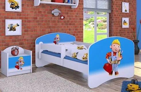 MAXMAX Detská posteľ bez šuplíku 140x70cm BOŘEK STAVITEL