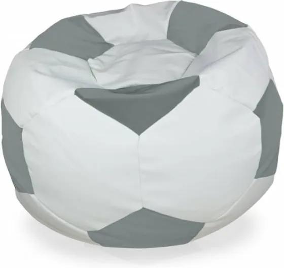Sedací vak Futbal oceľový - XL