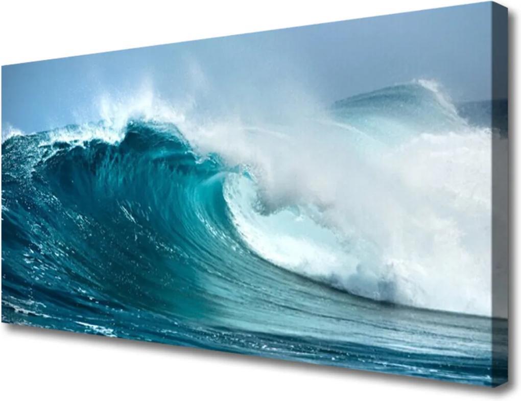 Obraz na plátně Skleněný vlny krajina