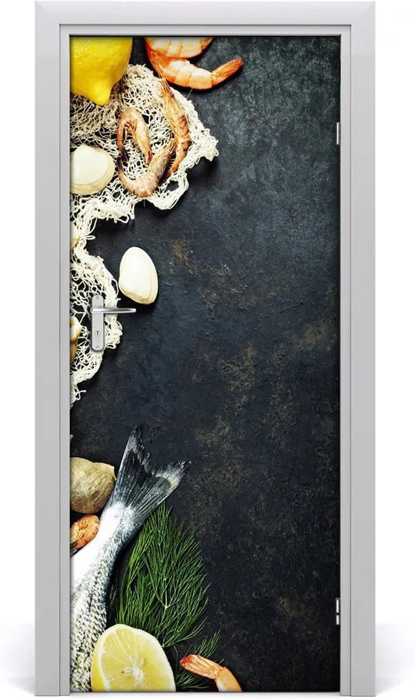 Fototapeta na dveře samolepící Ovoce moře