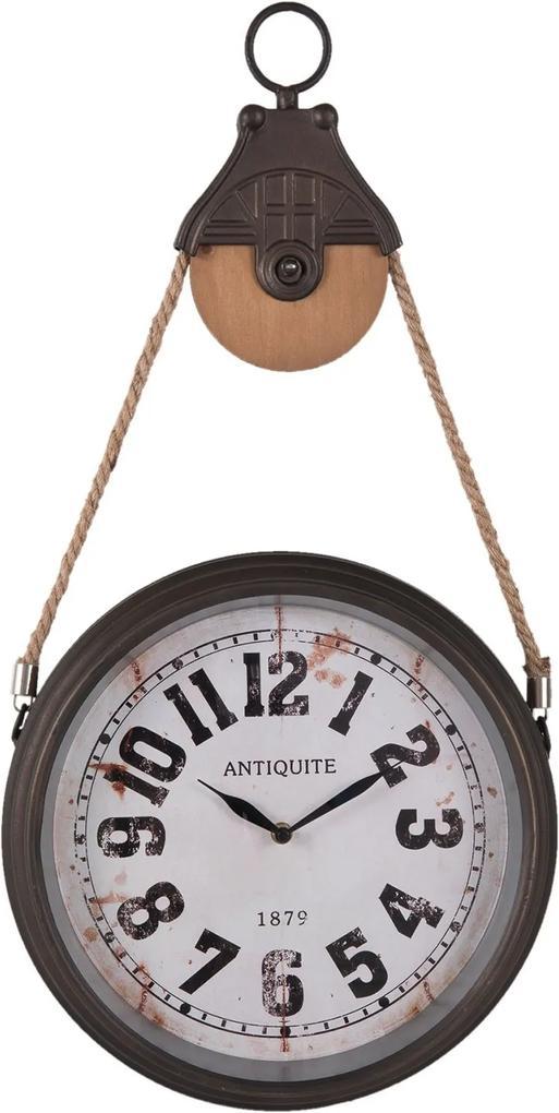Nástenné retro hodiny Antiquia - 34 * 6 * 67 cm / 1xAA