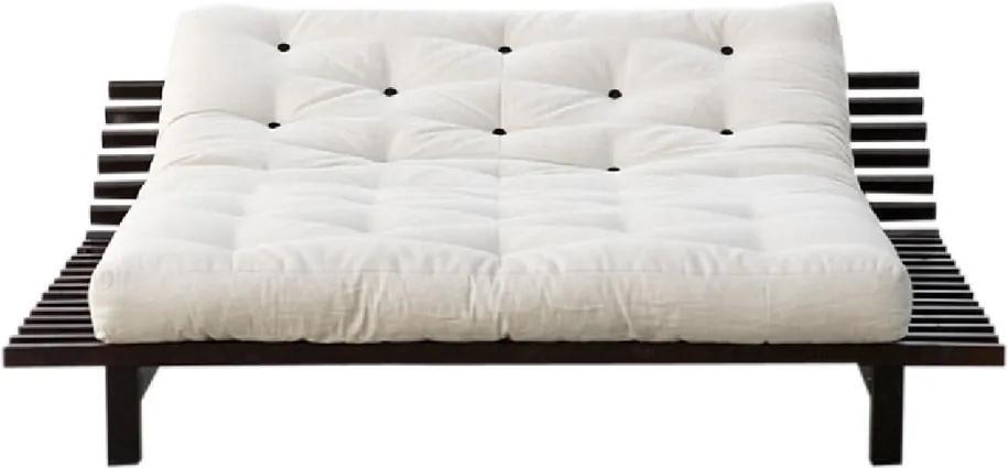 Rozkladacia posteľ z borovicového dreva Karup Design Blues, 200 × 200 cm