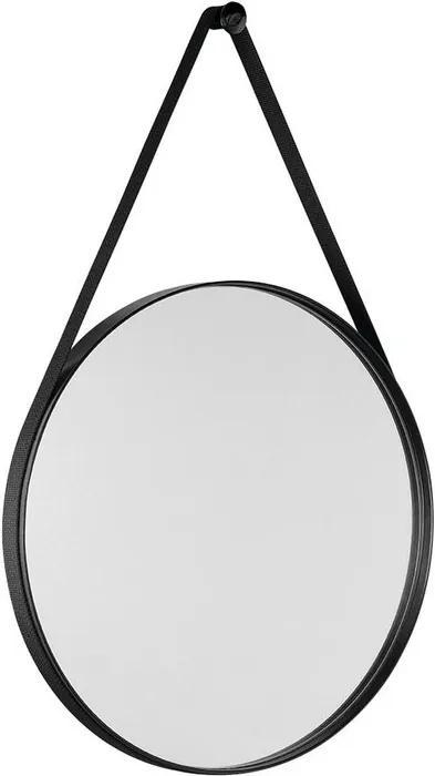 Orbiter ORB050 zrkadlo guľaté s popruhom, 50 cm, čierna matná