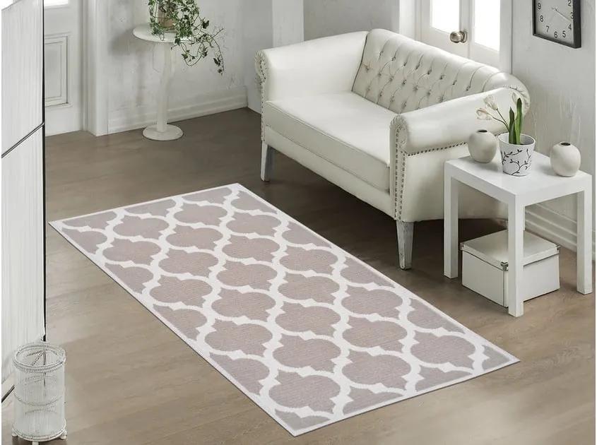Odolný koberec Vitaus Madalyon Bej, 80 × 150 cm