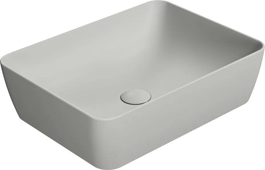 Sand 903717 umývadlo na dosku 50x38 cm, cenere mat