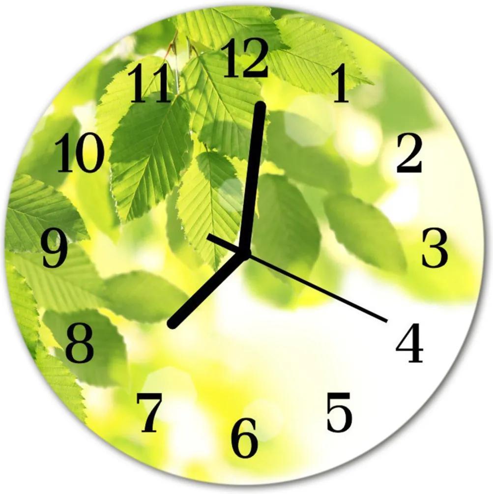 Skleněné hodiny kulaté listy