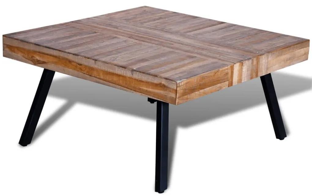 vidaXL Konferenčný stolík, štvorcový, recyklované tíkové drevo