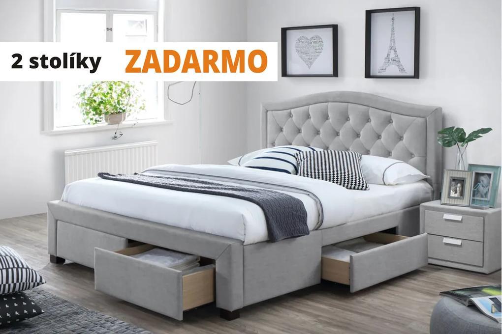 ELENA manželská posteľ 180 + 2 nočné stolíky ZADARMO