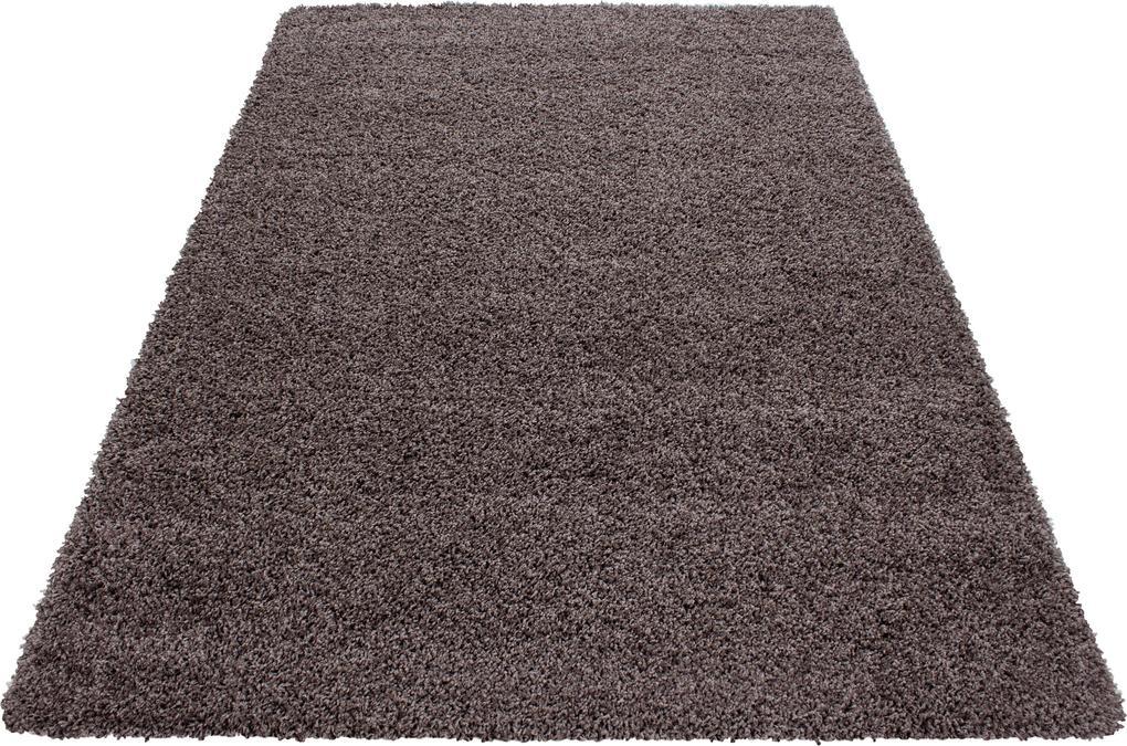 Ayyildiz koberce Kusový koberec Dream Shaggy 4000 taupe - 80x150 cm