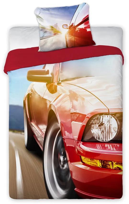 Bavlnené obliečky s autom 01 140x200 70x90 cm 100% Bavlna Faro