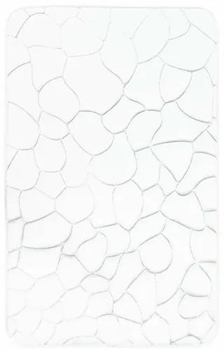 VOPI Kúpeľňová predložka s pamäťovou penou Kamene biela, 40 x 50 cm