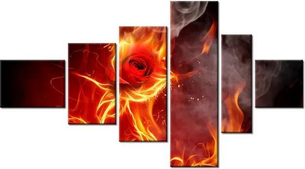 Tlačený obraz Ohnivá ruža 180x100cm 1399A_6E