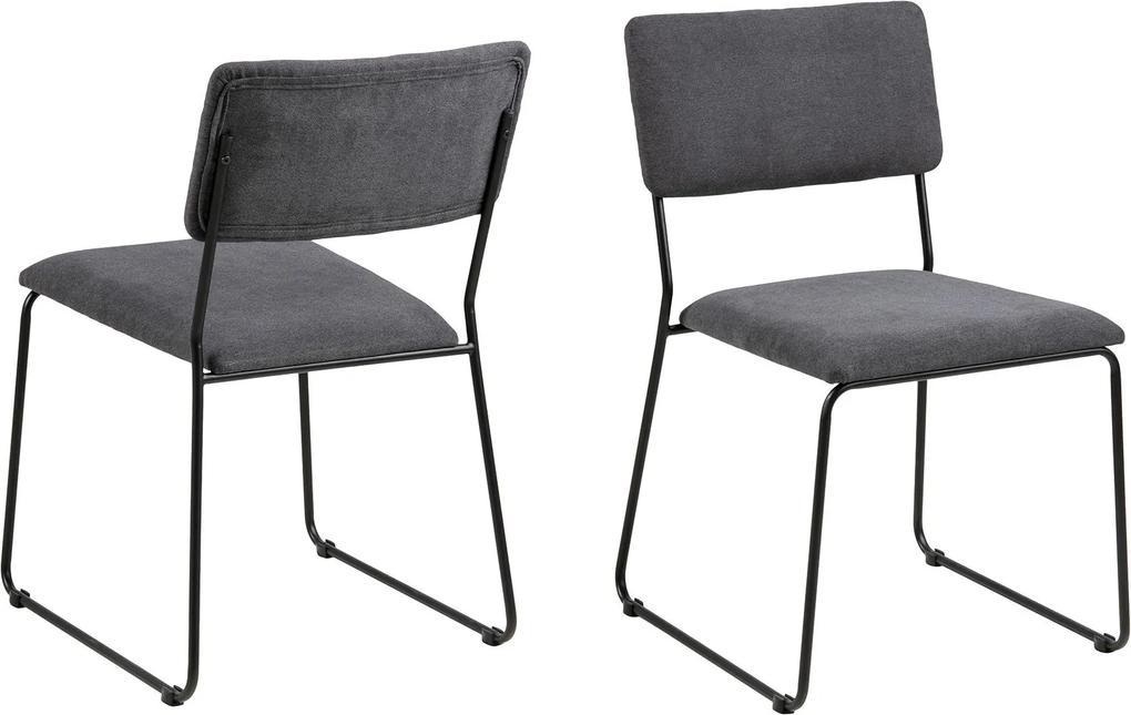 ACTONA Sada 2 ks − Jedálenská stolička Cornelia šedá