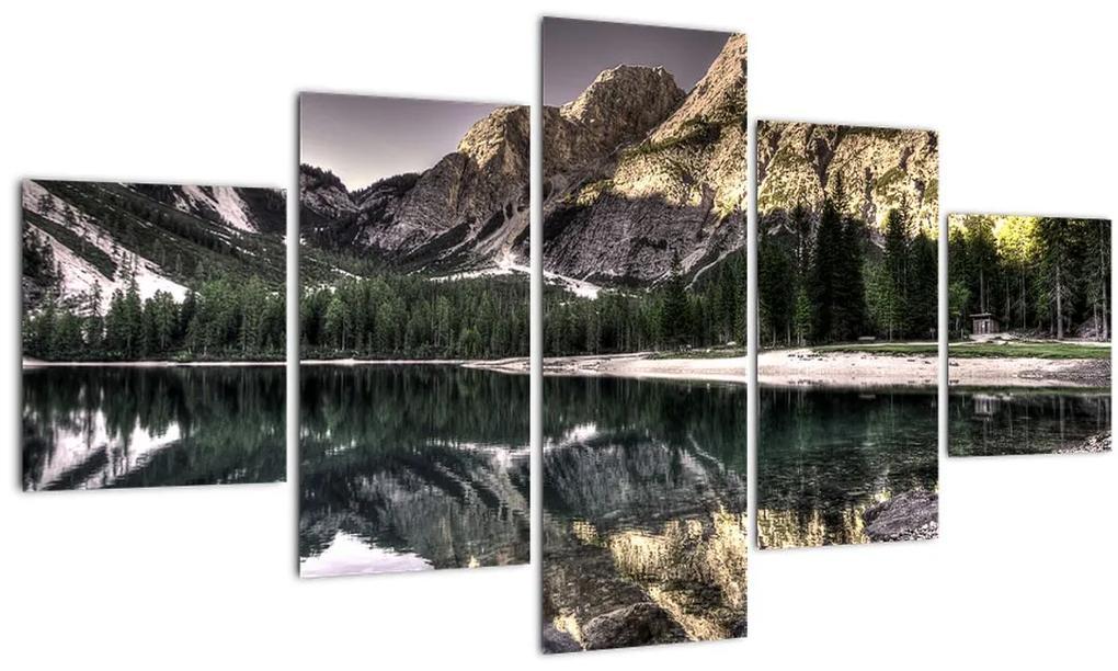 Obraz jazera v horách (125x70 cm), 40 ďalších rozmerov