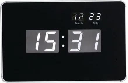 Digitálne hodiny, čierna/biela