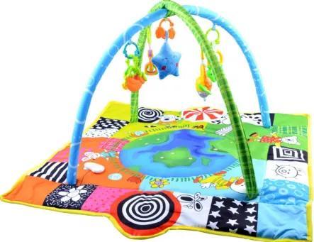 3497 Detská deka s hrázdičkou - zemeguľa
