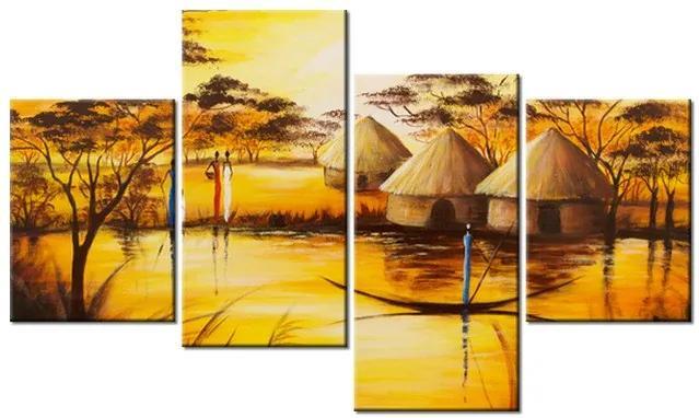 Tlačený obraz Africká dedina 120x70cm 1778A_4Z