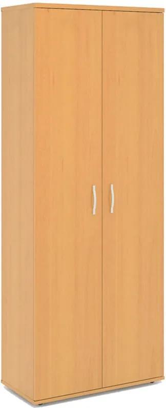 Skriňa šatníková Express s výsuvom, 740 x 372 x 1900 mm, tmavý orech