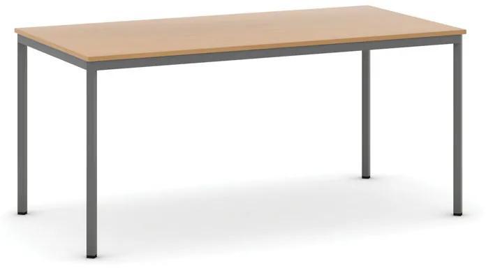 Jedálenské stoly, 1600 x 800 mm, buk, tmavo sivá konštrukcia
