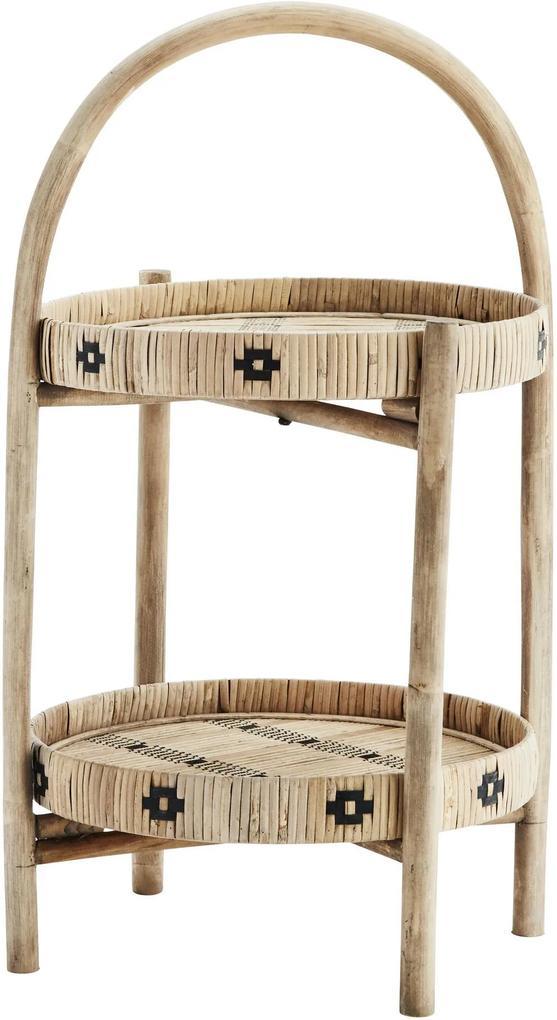 MADAM STOLTZ Odkladací stolík Natural Bamboo
