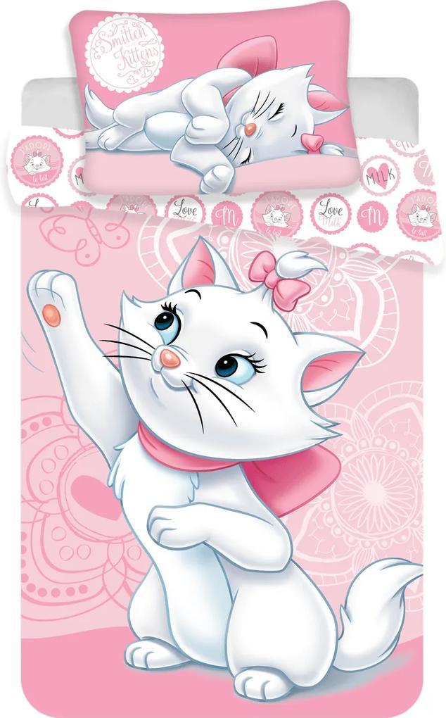 Jerry Fabrics Obliečka do postieľky Marie Cat baby 100x135/40x60 cm