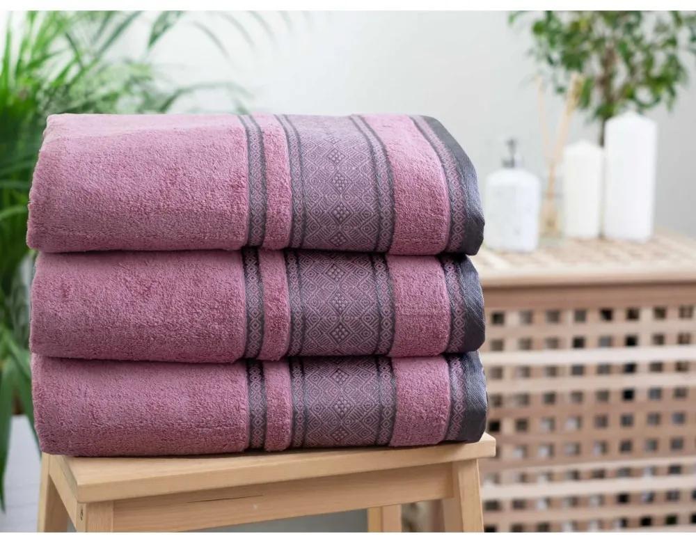MKLuzkoviny.cz Froté uterák 50 × 100 cm ‒ Panama púdrový