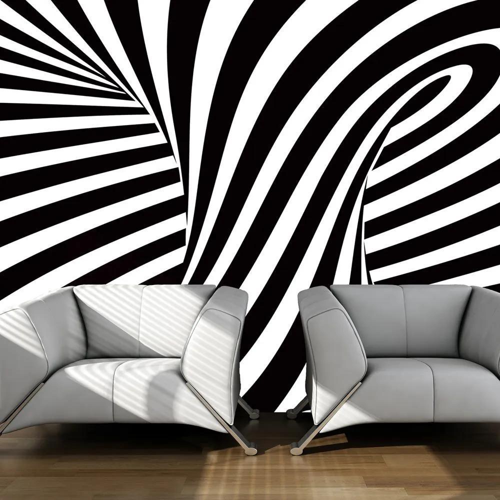 Fototapeta - optical art: black and white 400x309