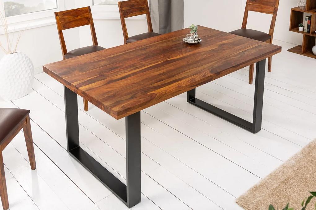 Dizajnový jedálenský stôl Thunder 140 cm sheesham