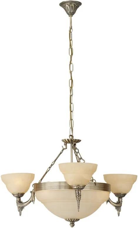 Interierové rustikálne svietidlo EGLO MARBELLA bronzová 85857