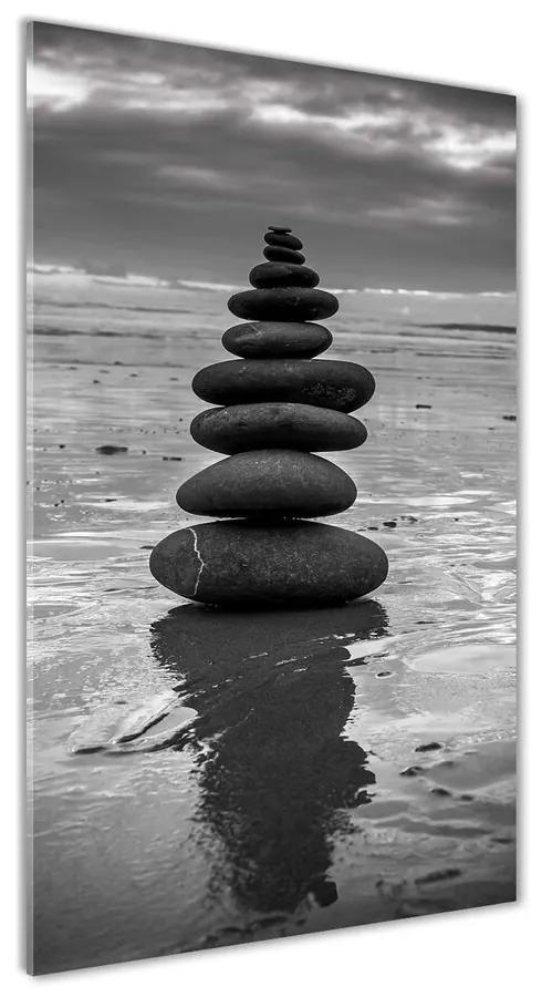 Foto obraz akrylový Kamenia na pláži pl-oa-70x140-f-82042722