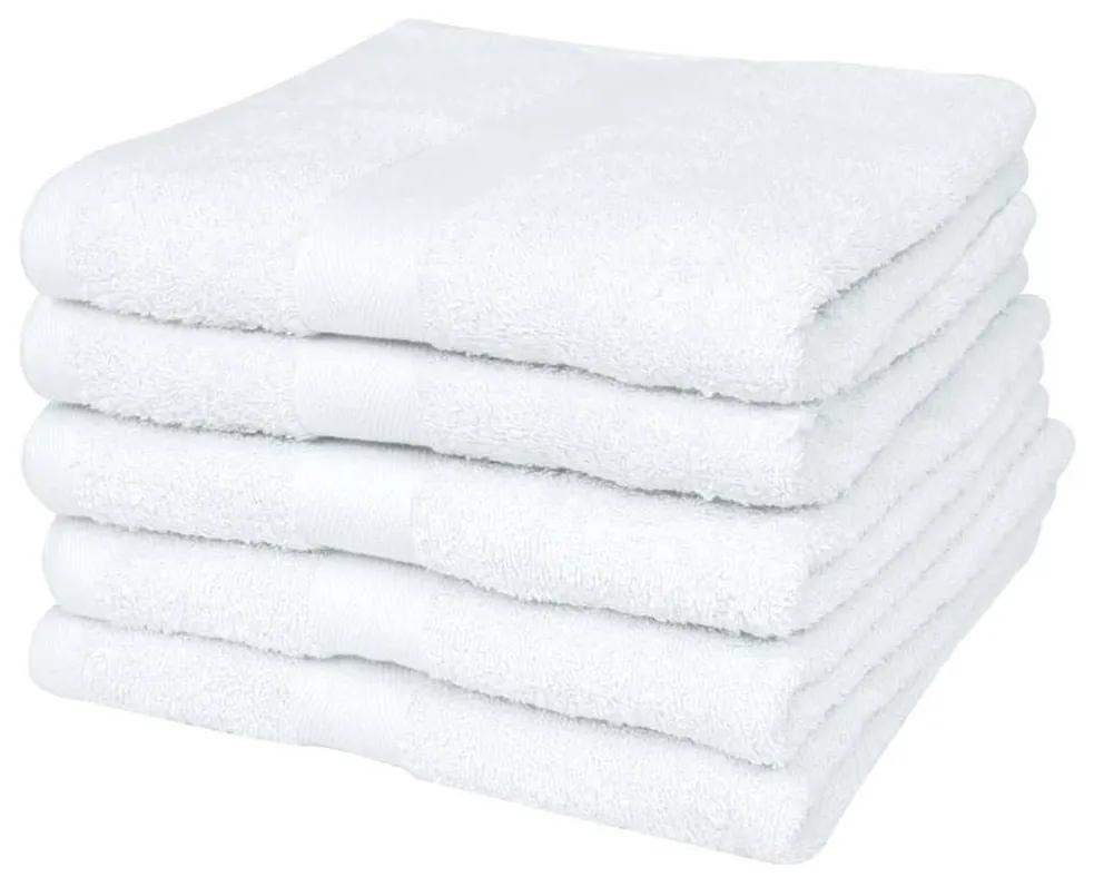vidaXL Hotelové uteráky do sauny sada 25ks bavlna 400g/m² 80x200cm biele